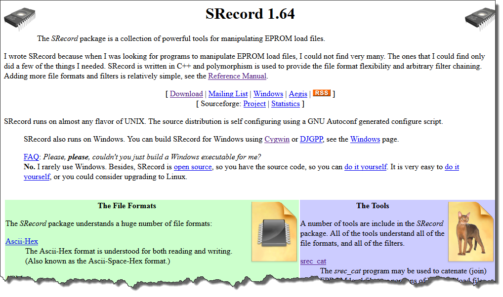 CRC Checksum Generation with 'SRecord' Tools for GNU and